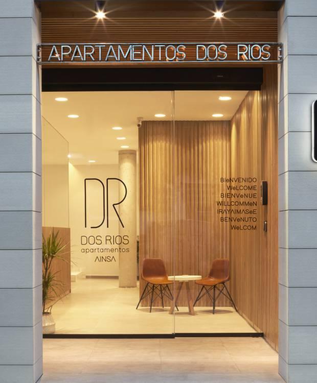 Entrada Hotel y Apartahotel Dos Ríos Ainsa